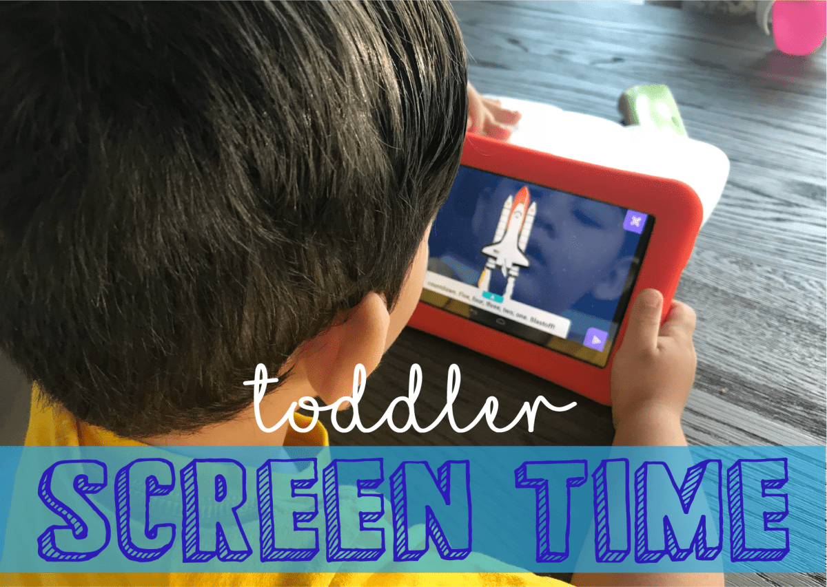 Toddler Screen/TV Time